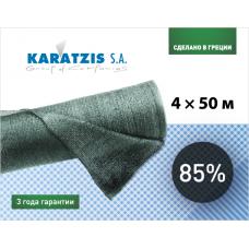 Сітка полімерна Karatzis для затінення  85% 4х50 м