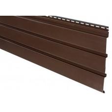 Софіт АйДахо панель без перфорації (коричнева)