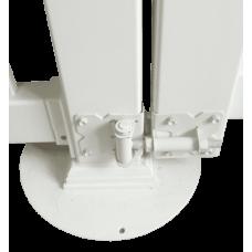 П'ята кругла металева для стовпа Alta Profil біла