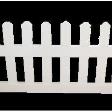 Секція паркану ПВХ Alta Profil Garden 62,7х172,5х5 біла