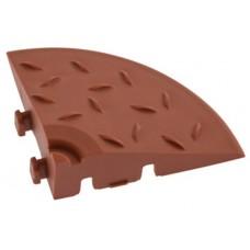 Угловой елемент обрамления с замками для газонной решетки AltaProfil коричневый