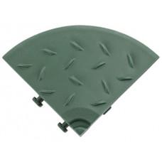 Угловой елемент обрамления с замками для газонной решетки AltaProfil зеленый
