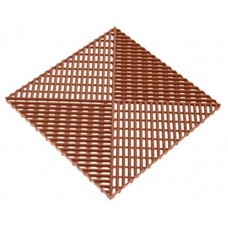 Решетка газонная AltaProfil 400x400 с дополнительным обрамлением коричневая