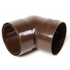 Коліно з двома раструбами 67,5° ProAqua Ø110 мм світло-коричневе (RAL 8017)