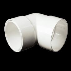 Коліно з двома раструбами 67,5° ProAqua Ø110 мм біле (RAL 9010)