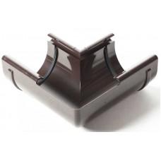 Кут внутрішній 90° ProAqua Ø125 мм темно-коричневий (RAL 8019)