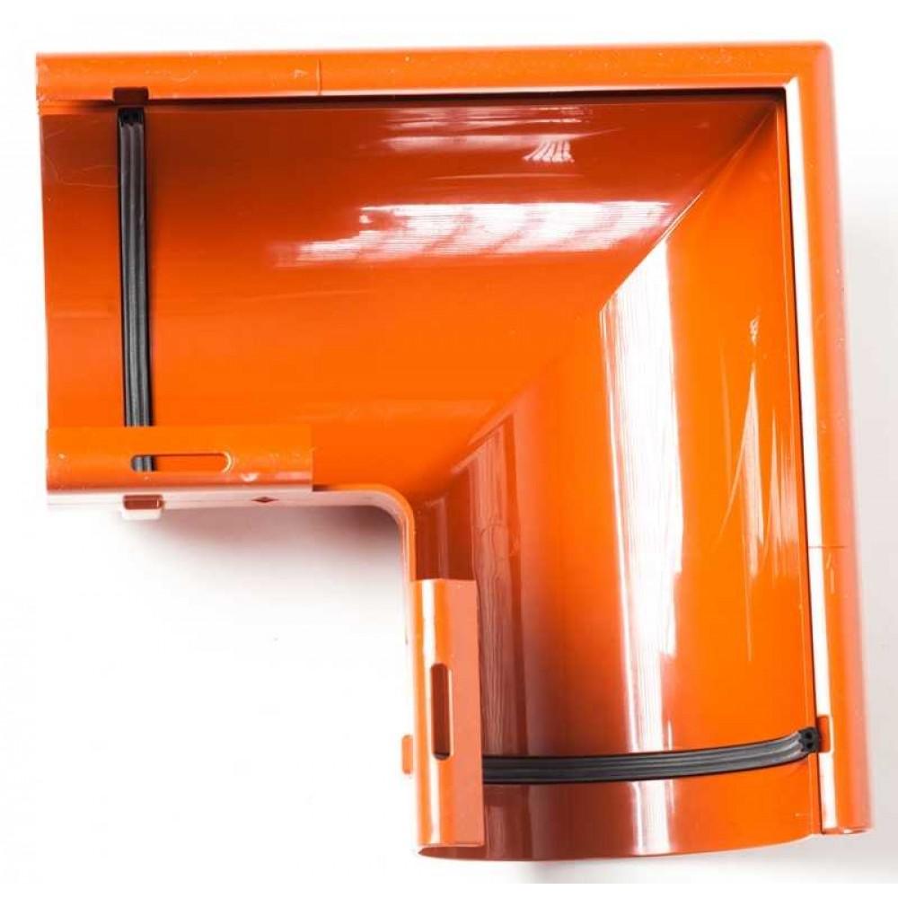 Кут зовнішній 90° ProAqua Ø125 мм цегельний (RAL 8004)