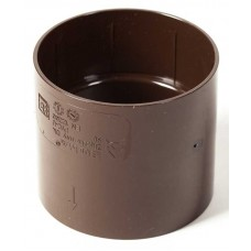 Муфта водостічної труби ProAqua Ø110 мм світло-коричнева (RAL 8017)
