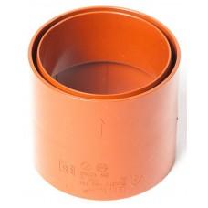 Муфта водостічної труби ProAqua Ø110 мм цегельна (RAL 8004)