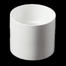 Муфта водостічної труби ProAqua Ø110 мм біла (RAL 9010)