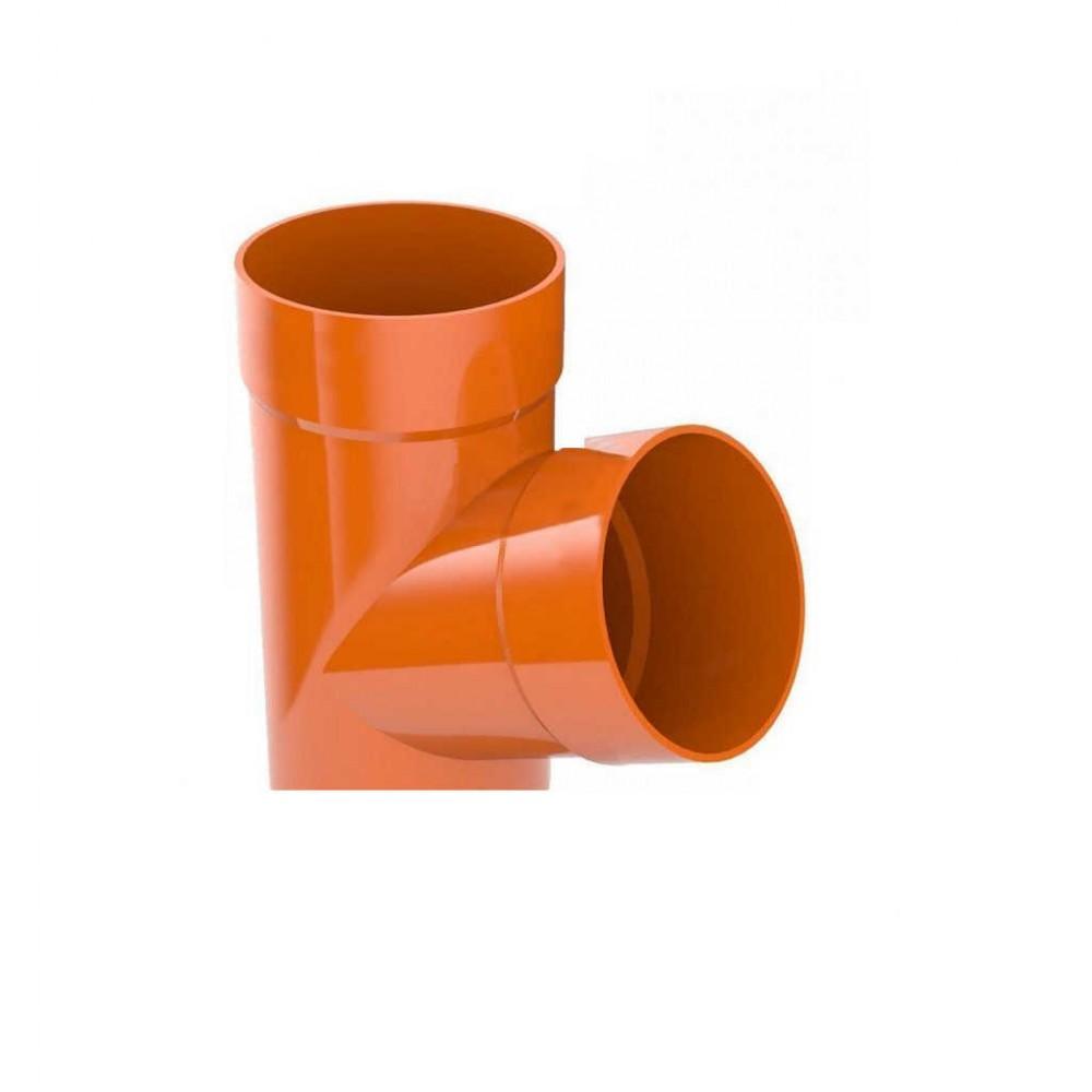 Трійник 67,5° ProAqua Ø90 мм цегельний (RAL 8004)