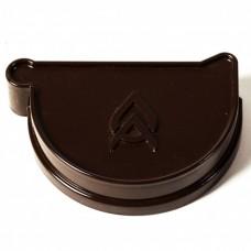 Заглушка ринви Ø150 мм права з ущільнювачем ProAqua темно-коричнева (RAL 8019)
