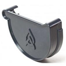 Заглушка ринви Ø150 мм права з ущільнювачем ProAqua графітова (RAL 7016)