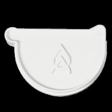 Заглушка ринви Ø150 мм права з ущільнювачем ProAqua біла (RAL 9010)