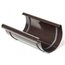 З'єднувач ринви ProAqua Ø125 мм темно-коричневий (RAL 8019)