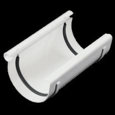 З'єднувач ринви ProAqua Ø125 мм білий (RAL 9010)