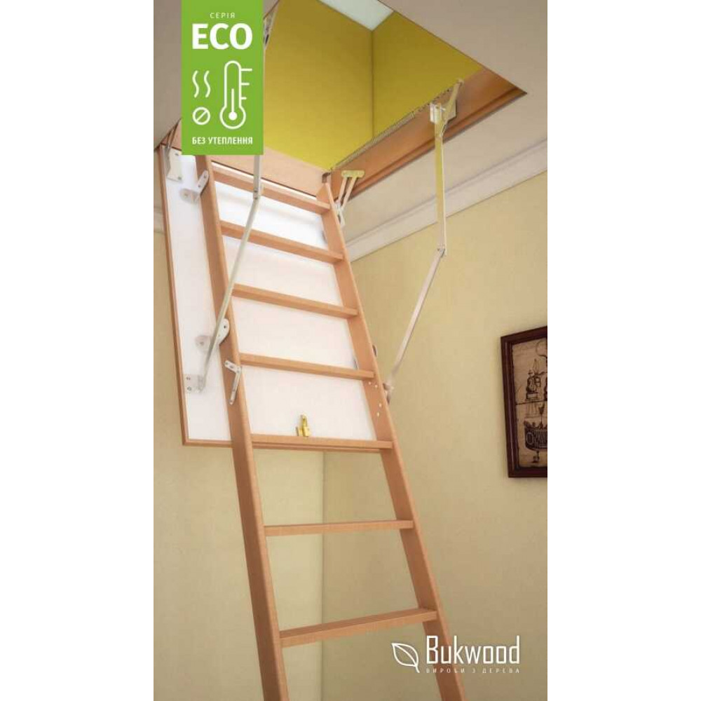 Bukwood Eco Long 130х80 мансардна драбина