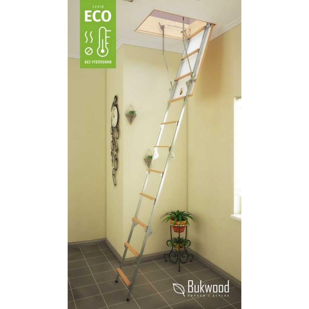 Bukwood Eco Metal 120х70  чердачная лестница