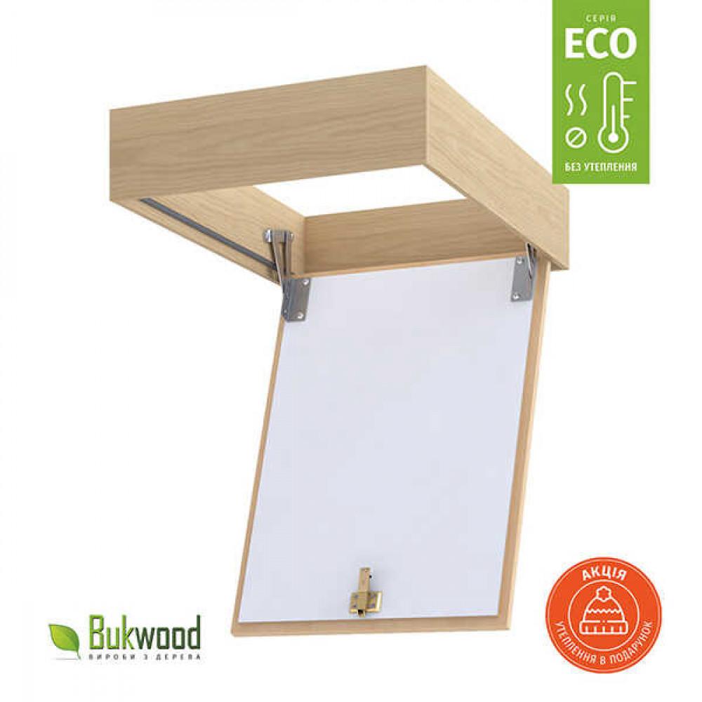 Люк на чердак Bukwood Eco 60x50 см без утепления