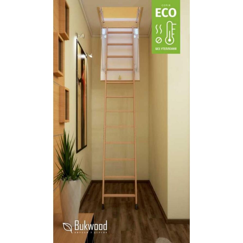 Bukwood Eco ST 130х60 мансардная лестница