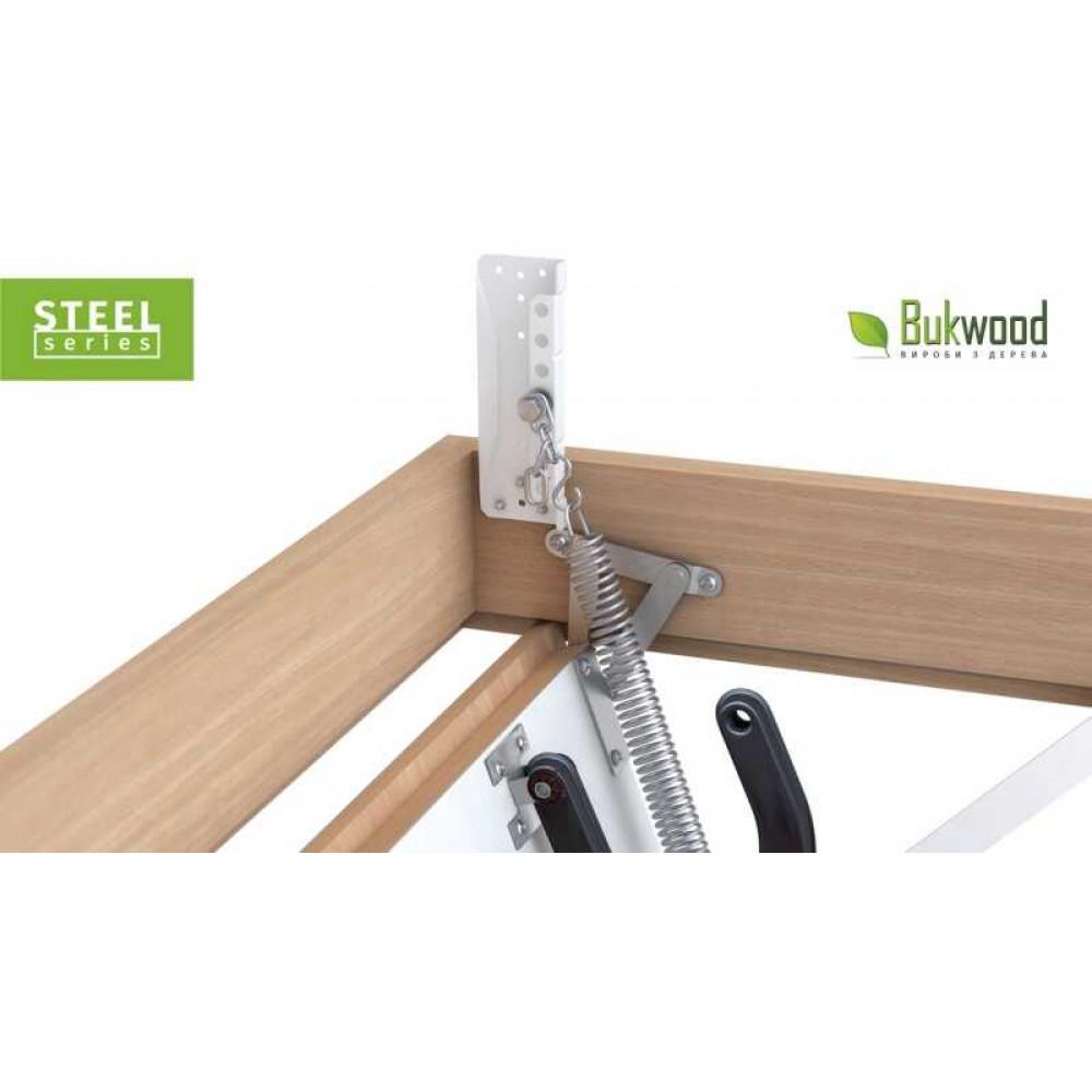 Раздвижная чердачная лестница Bukwood Steel Clips 80x60