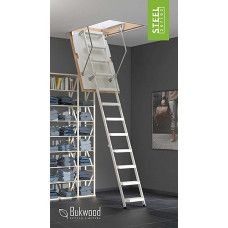 Лестница на чердак металлическая раскладная Bukwood Steel Step 110х60 см