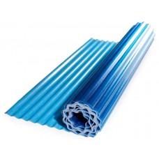 Прозорий гофрований шифер ЕліПласт синій 2 м 0,85 кг/кв.м
