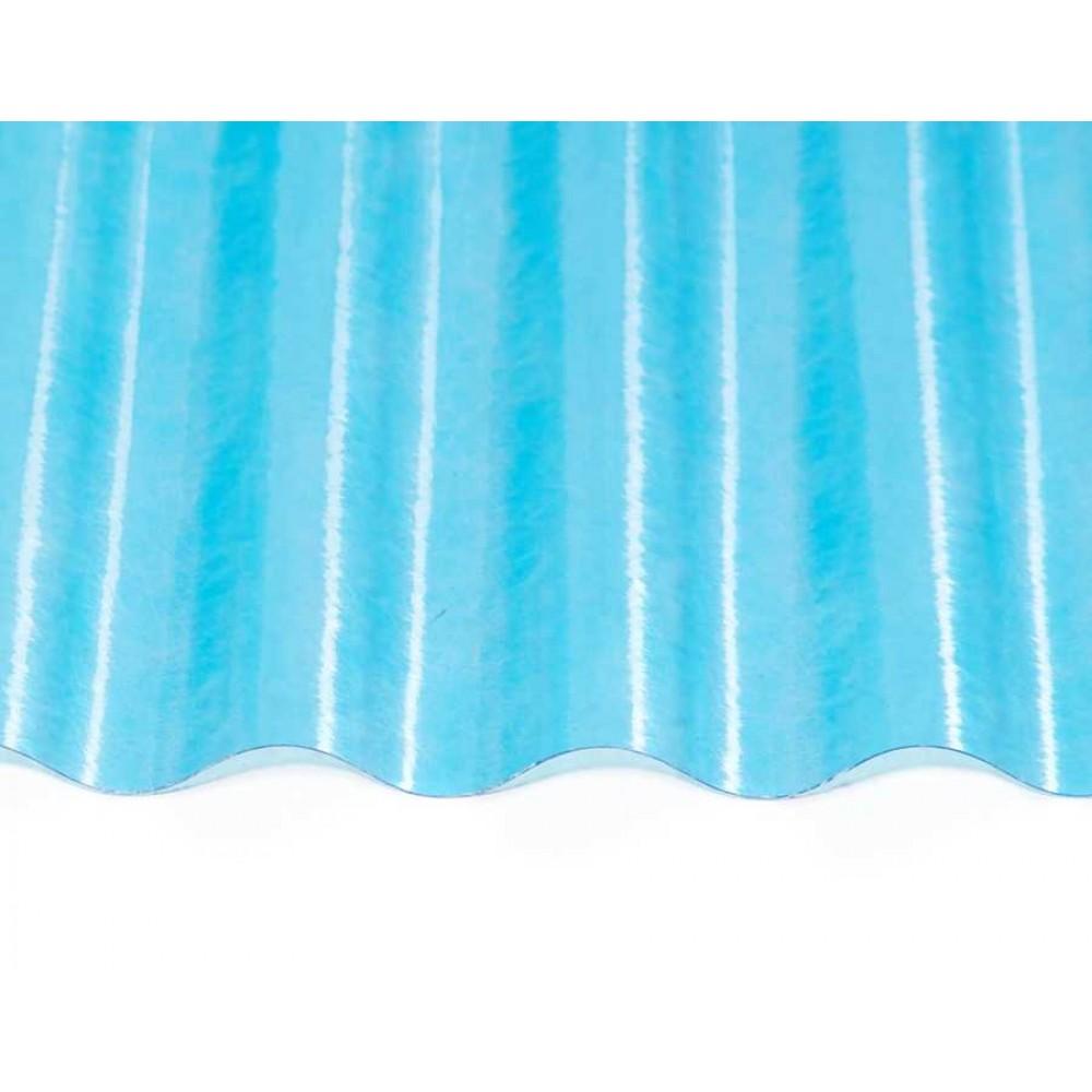 Прозорий гофрований шифер ЕліПласт синій 1,5 м 0,85 кг/кв.м