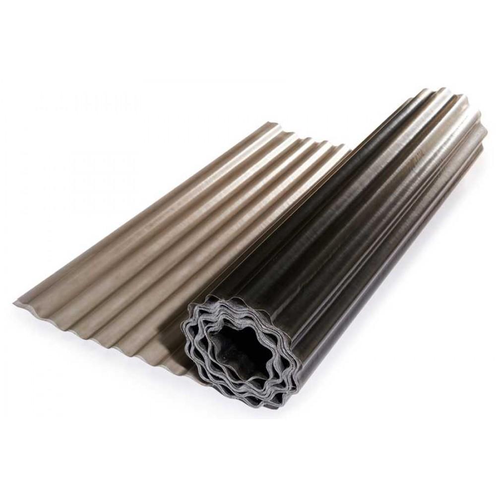 Прозорий гофрований шифер ЕліПласт бронзовий 2,5 м 0,85 кг/кв.м