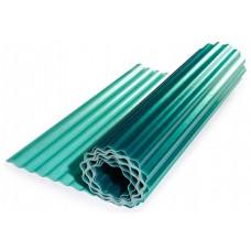 Прозрачный гофрированный шифер ЭлиПласт зеленый 1,5 м 0,85 кг/кв.м