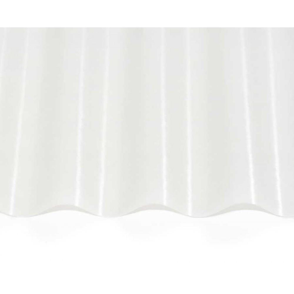 Прозорий гофрований шифер ЕліПласт молочно-білий 1,5x10 м 0,85 кг/кв.м