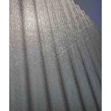 Прозорий гофрований тиснений шифер ЕліПласт бронзовий 1х2м (крапелька)