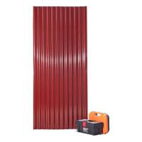 Непрозорий склопластиковий хвилястий шифер ЕліПласт червоний 0,9х2 м