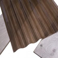 Прозорий шифер зі склопластику Fibroplast коричнева хвиля 2000х1064