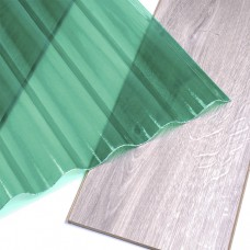 Прозорий шифер зі склопластику Fibroplast зелена хвиля 1500х1064