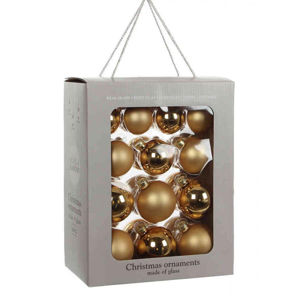 Ялинкові кульки House of Seasons комплект 26 шт золотистий