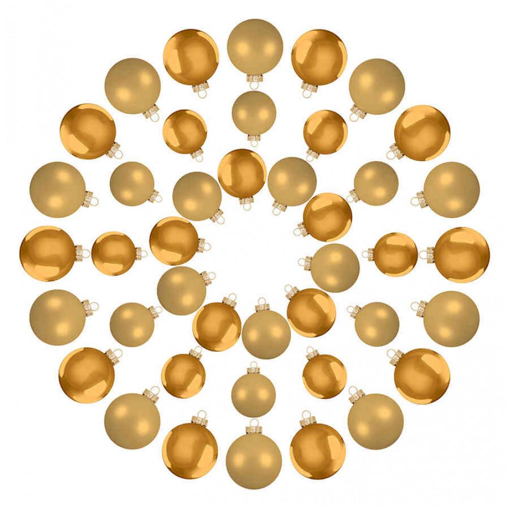 Ялинкові кульки House of Seasons комплект 42 шт золотистий