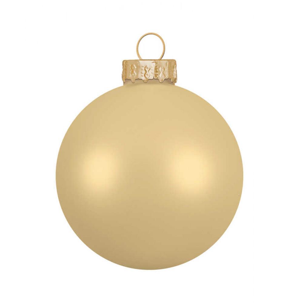 Ялинкові кульки House of Seasons комплект 42 шт світло-золотистий