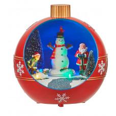LED прикраса Куля новорічна Luville Collectables пластикова червона настільна