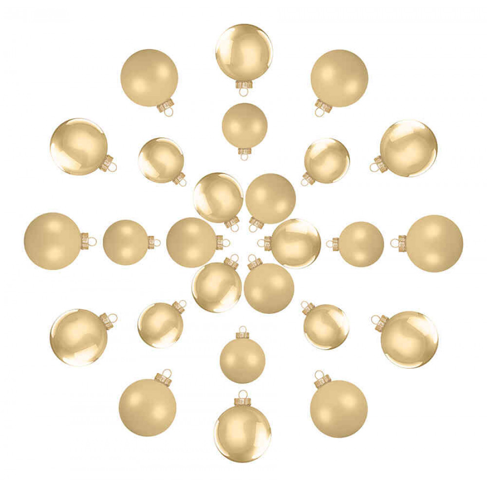 Ялинкові кульки House of Seasons комплект 26 шт світло-золотистий