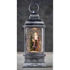 LED ліхтар декоративний Санта з ялинкою Luca Lighting пластиковий сірий