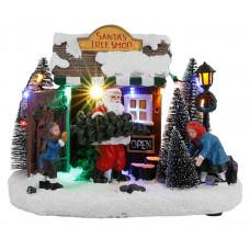 LED прикраса Santa`s tree shop Luville Collectables пластикова настільна
