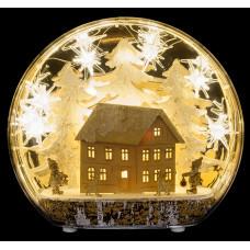 LED прикраса Зимова хатка Luca Lighting пластикова настільна
