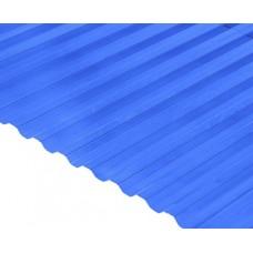 Градостійкий профільований полікарбонат BauGlas Greca Clear 6000х1050х0,8мм синій