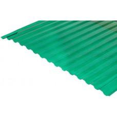 Градостійкий профільований полікарбонат BauGlas Greca Clear 6000х1050х0,8мм зелений