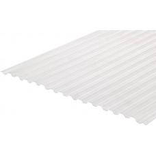 Градостійкий профільований полікарбонат BauGlas Greca Clear 6000х1050х0,8мм безбарвний