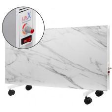 Підлоговий керамічний обігрівач LIFEX D.Floor 1000 R білий мармур з терморегулятором