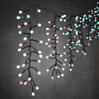 LED гірлянда Luca бахрома 12,2 м (мультикольорове світло)