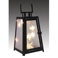 LED ліхтар декоративний Luca Lighting металевий з голографічним ефектом на склі чорний