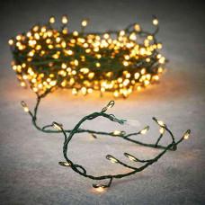 LED гірлянда Luca 6 м на зеленій струні (біле тепле світло)